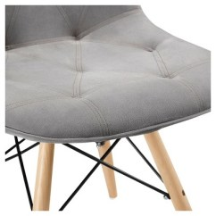 Kitchen Chairs Wood White Eiffel Chair Black Legs Grey Upholstered Eames Dining Set Of 2 Saracina More