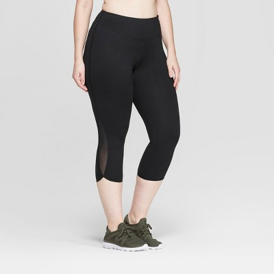 "Women's Plus Size Everyday Mid-Rise Capri Leggings 21"" - C9 Champion®"