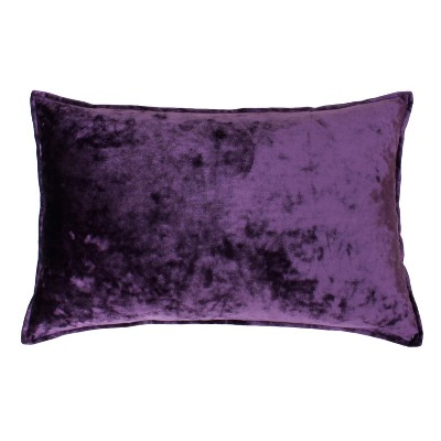 ibenz ice velvet lumbar throw pillow purple decor therapy