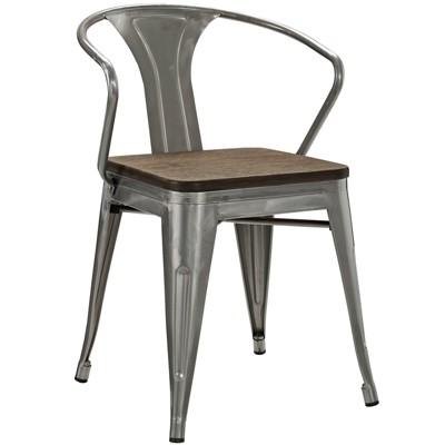 bamboo dining chair design lift promenade gunmetal modway target