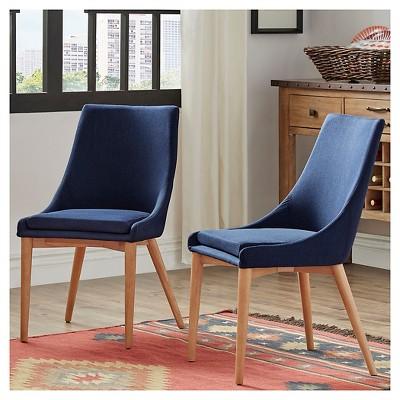 mid century barrel dining chair hanging pier one canada sullivan oak back set of 2 twilight inspire q target