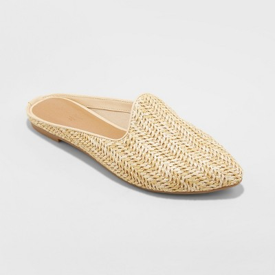 Women's Violet Woven Backless Mules - Universal Thread™