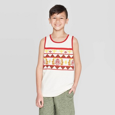 Boys' Aladdin Tank Top - White