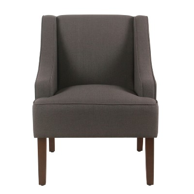 Classic Solid Swoop Arm Accent Chair - Homepop