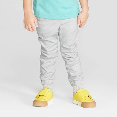 Toddler Boys' Stretch Twill Front Jogger Pants - Cat & Jack™ Gray