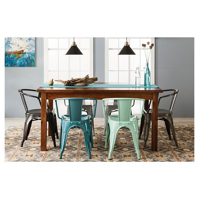 metal chairs and table argos home office desk chair set oak effect farm dining collection threshold target