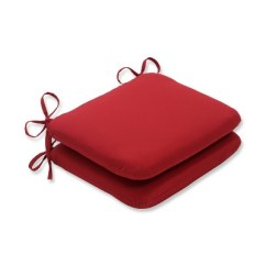 Target Chair Cushions Dark Wood Dining Room Table And Chairs 2 Piece Outdoor Seat Pad Bistro Cushion Set Red