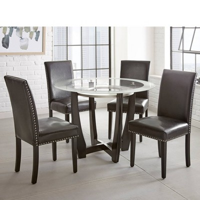 5pc Verano Dining Set Wood/Glass - Steve Silver
