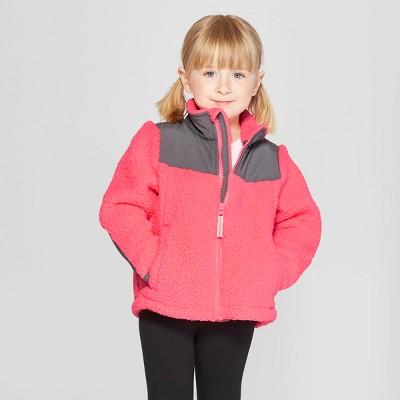 Toddler Girls' Zip-Up Fleece Jacket - Cat & Jack™ Pink