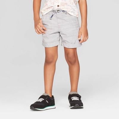 Toddler Boys' Novelty Texture Chino Shorts - Cat & Jack™ White/Heather Blue