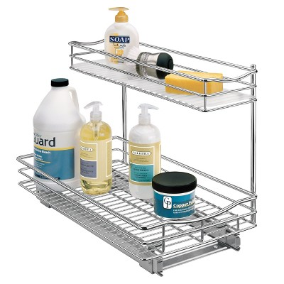 "Link Professional 11.5"" x 18"" Slide Out Under Sink Cabinet Organizer - Pull Out Two Tier Sliding Shelf"