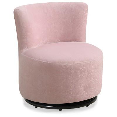 pink swivel chair wheelchair transfer kid s fuzzy fabric everyroom target