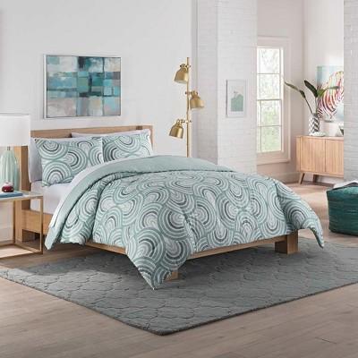 Sage Frenchy Reversible Comforter Set - Vue