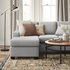 Chaise In Living Room How Can I Decorate My Small Barnstable Pillow Arm Transitional Reversible Sofa Gray Threshold Target