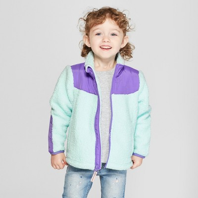 Toddler Girls' Zip-Up Fleece Jacket - Cat & Jack™ Aqua