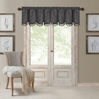 "Mia Beaded Scallop Valance - 52"" x 19"" - Elrene Home Fashions"
