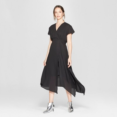 Women's Short Sleeve Scarf Hem Midi Dress - Prologue™