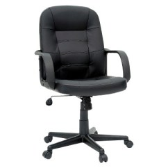 Office Chair Armrest How To Make A Throne In Minecraft Bonded Leather Black Room Essentials Target