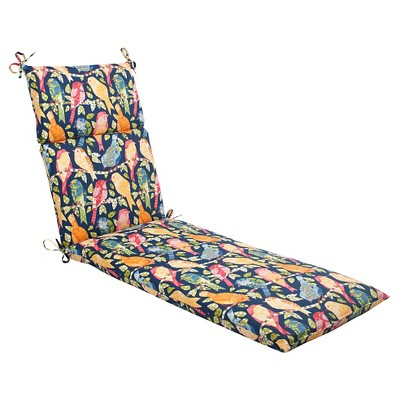 wicker chair cushions with ties metal dining chairs ikea outdoor chaise lounge cushion birds target about this item