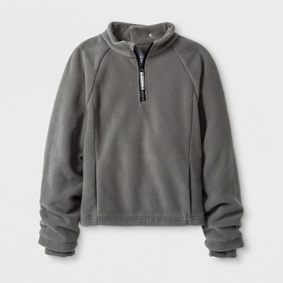 Boys' Adaptive Fleece Jacket - Cat & Jack™ Gray