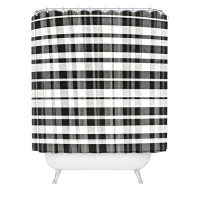 monika strigel farmhouse gingham shower curtain black deny designs