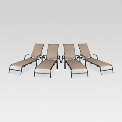 target sling chair tan beach accessories 4pk stack patio lounge threshold