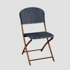 French Cafe Chairs Serta Office Chair Warranty Claim Caf 233 Wicker Folding Patio Bistro Navy White Threshold Target