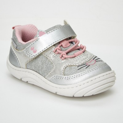 Baby Girls' Surprize by Stride Rite Kitty Sneakers - Silver