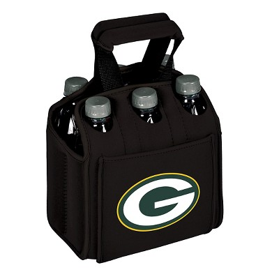 Picnic Time NFL Team Six Pack Beverage Carrier - Black