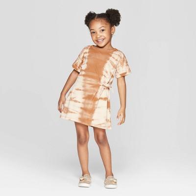 Toddler Girls' Tie Dye Tunic Dress - art class™ Brown