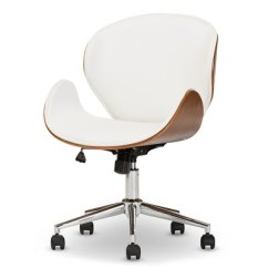 Contemporary Office Chairs Loveseat Camp Chair Bruce Modern And White Walnut Brown Baxton Studio Target
