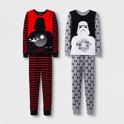 Boys' Star Wars 4pc Pajama Set - Red/Gray
