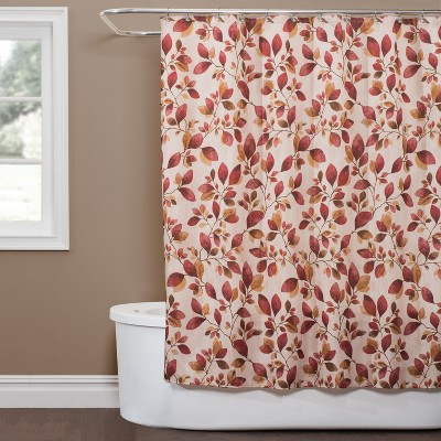 red shower curtain target