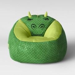 Green Bean Bag Chair Mid Century Modern Rocking Plans Character Dragon Pillowfort Target