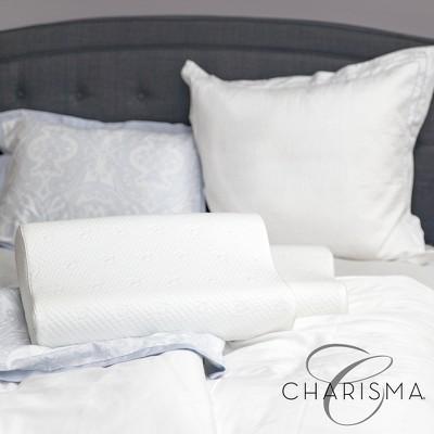 charisma luxury contour gel infused oversized memory foam pillow