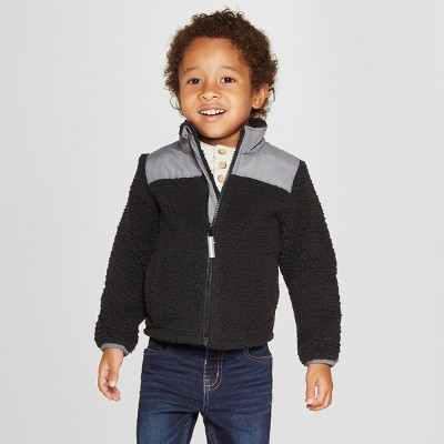 Toddler Boys' Zip-Up Fleece Jacket - Cat & Jack™ Black