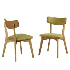 Mid Century Dining Chairs Design Within Reach Set Of 2 Abrielle Green Christopher Knight Home