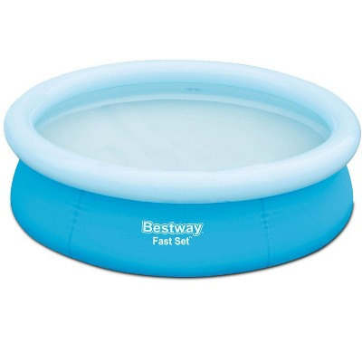 """Bestway 6' X 20"""" Fast Set Round Inflatable Above Ground Kids Swimming Pool, Blue"""