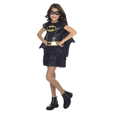Toddler Girls' DC Comics Sequin Batgirl Costume - 2T/4T