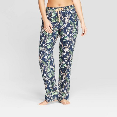 Women's Floral Print Simply Cool Pajama Pants - Stars Above™ Navy