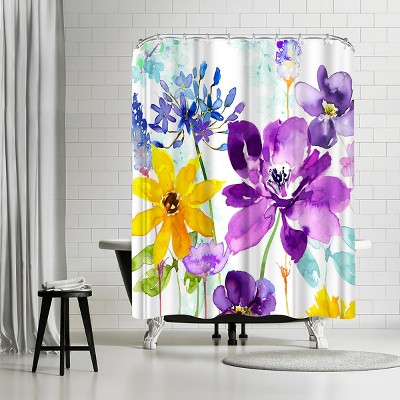 americanflat floral shimmer by harrison ripley 71 x 74 shower curtain