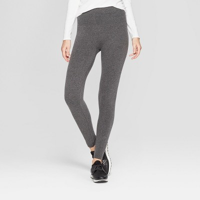Women's High Waist French Terry Leggings - A New Day™ Charcoal Heather Gray