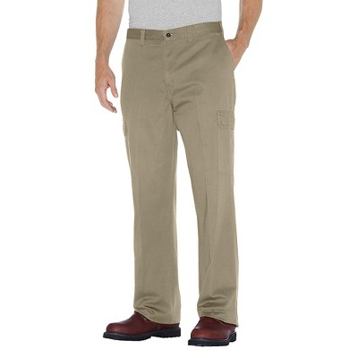 Dickies® Men's Big & Tall Loose Straight Fit Cotton Cargo Work Pants