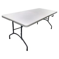 Target Folding Table And Chairs How To Make A Wooden Chair Stop Squeaking 6 Banquet Off White Plastic Dev Group