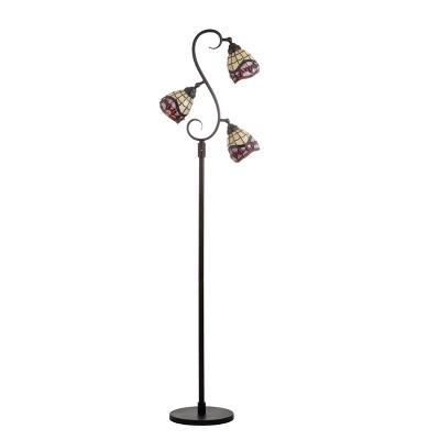 "70.5"" Walker Tiffany Style Multi Light LED Floor Lamp Bronze (Includes Energy Efficient Light Bulb) - JONATHAN Y"