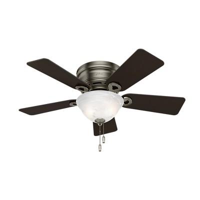 "42"" Conroy Antique Pewter Ceiling Fan with Light - Hunter Fan"