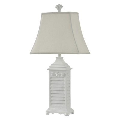 Nautical White Monterey Table Lamp with White Softback Fabric Shade (Lamp Only) - StyleCraft