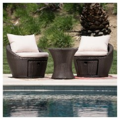 Wicker Patio Chair Set Of 2 Covers Sale Cape Town Porto Fino 3pc All Weather Brown Christopher Knight Home Target