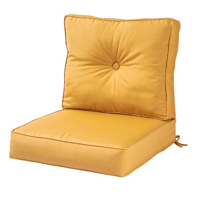 2pc solid wheat outdoor sunbrella deep seat cushion set kensington garden