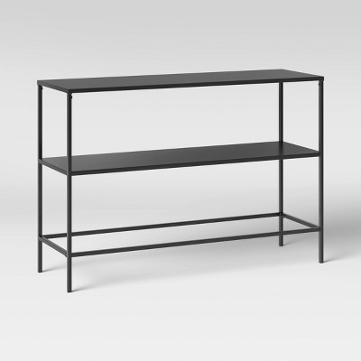 thin metal patio console table project 62